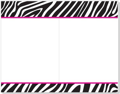 Zebra Design Invitations